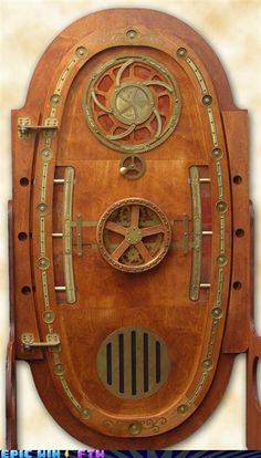 "Just found our very own Chris Schaie's lovely door in the ""Steampunk"" tag! We fixed the source info so you can check out all of his other work by clicking on the photo."