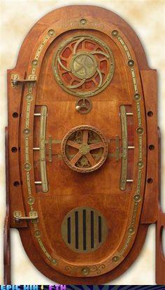Steampunk door.   WOW!!!