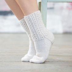 Flettesokken - pakke med garn og oppskrift til elegante sokker