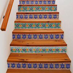 Tile look with Moroccan Stencils   Star Border Stencils   Royal Design Studio