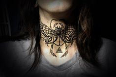 Neck tattoo. Awesomes.    ~CoolHeart this  Pin!