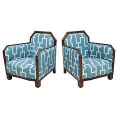 1stdibs.com | A Fine Pair Rosewood Art Deco Club Chairs, France