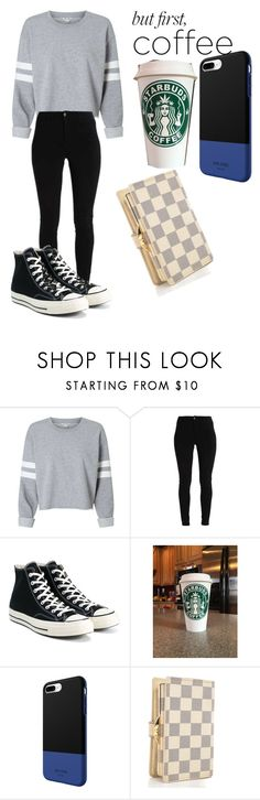 """Coffee Run"" by starsgoblue12 on Polyvore featuring Converse"