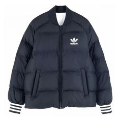 adidas Originals SST REVERSIBLE DOWN JACKET BLACK ($180) ❤ liked on Polyvore featuring adidas originals
