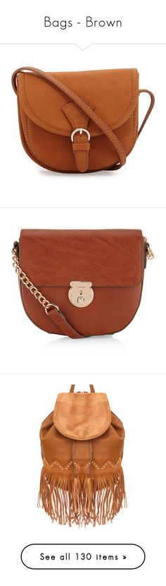 """""""Bags - Brown"""" by teresamargit ❤ liked on Polyvore featuring bags, handbags, shoulder bags, purses, accessories, bolsas, bolsos, light brown, leather shoulder bag and brown crossbody purse"""