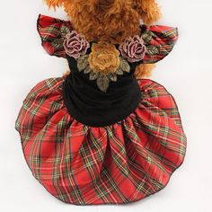 Having taken inspiration from the Highlands of Scotland, this tartan dog dress will set your doggy up for any smart occasion, or those spring and summer walkies. https://www.dressyourdoggy.com/collections/dresses/products/tartan-princess-dog-dress?variant=32460912082