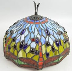 Stained Glass Dragonfly Lamp Shade