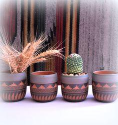 Ceramic planter pottery cactus planter Navajo by claykedem on Etsy