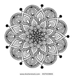 Mandalas for coloring book. Mandalas Painting, Mandalas Drawing, Mandala Coloring Pages, Colouring Pages, Adult Coloring Pages, Coloring Books, Mandala Doodle, Yoga Logo, Henna Mehndi