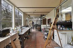 Art Studio: glassed porch / loft - Austin Texas Home For Lease/ Sale