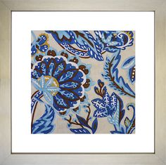 Art Effects Indigo Tapestry I by Chariklia Zarris Framed Graphic Art Painting Frames, Painting Prints, Wall Art Prints, Fine Art Prints, Canvas Prints, Art Frames, Blue Artwork, Framed Artwork, Framed Wall
