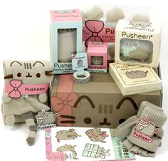 The Pusheen Box Winter 2016 is filled with everything needed to stay inside and get cozy with Pusheen! Stainless steel thermos, exclusive vinyl, and more! The Homespun Chics
