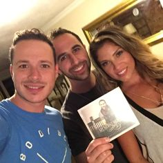 """Sept 1 Finished filming my new music video with Brittany Baldi & Vassili Shields!  And what is that in my hand?! #newmusic """"Breakthrough"""" CD"""
