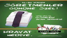 Sabri Özel 16-26 Kasım 2013 Öğretmenler Günü Kampanyası