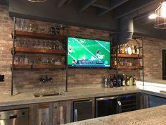 Industrial basement bar