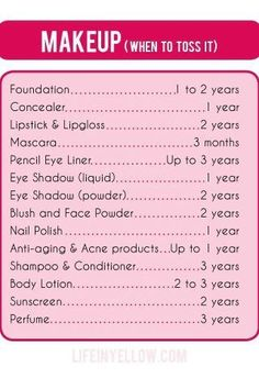 When to toss make up