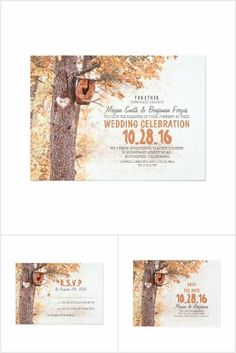 Owl and Love Tree Rustic Wedding Collection