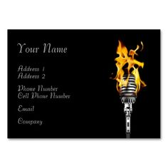 Rock band business cards music themed business card templates music business card flaming microphone colourmoves
