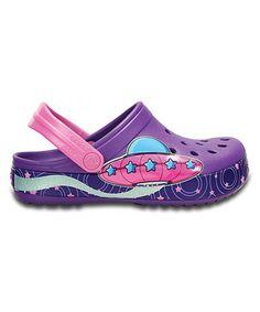 Look at this #zulilyfind! Neon Purple Crocband Galactic Clog - Toddler & Girls #zulilyfinds