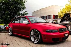 #Audi A4 Avant #Modified #Custom Vossen Rims #Slammed #Stance