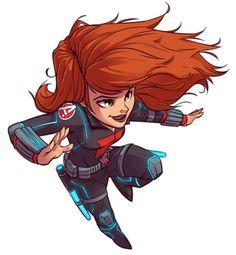 Chibi Black Widow I designed for Marvel's new Super Hero Adventures line. Marvel Vs, Marvel Dc Comics, Chibi Marvel, Marvel Heroes, Chibi Superhero, Comics Und Cartoons, Marvel Cartoons, Black Widow Avengers, Comic Books Art