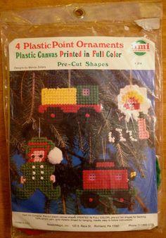 ELF CHRISTMAS ORNAMENT KIT ~ Plastic Canvas Train Doll Caboose REDUCED On Sale  #PlasticPount
