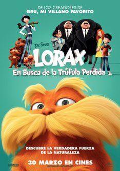 """Tráiler de """"Lorax, en busca de la trúfula perdida"""". Información, sinópsis y ficha técnica de la película #films #movies"""