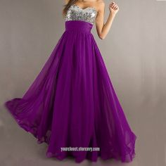 Dress code: MG004    Fabric:Chiffon   Embellishment:Beading,sequins  Straps:Strapless   Sleeves:Sleeveless   Back: Zipper   Color: Purple  Size: 2,4,6,8,10,12, custom-made    Note:   It may take 10-15days for tailor and processing.   For custom-made size, please provide shoulder/bust/waist size, ...