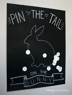 last minute easter ideas- Pin the Tail on the Bunny game