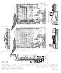 Barcelona, Spain  Rehabilitation of Santa Caterina Market  Miralles Tagliabue EMBT