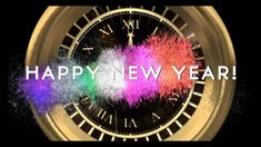 NEW YEAR COUNTDOWN CLOCK (v 204) Timer with sound Effects + Fireworks 20...