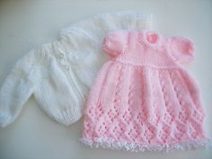 Ideas For Knitting Patterns Free Baby Girl Doll Clothes Knitting Dolls Clothes, Knitted Baby Clothes, Baby Doll Clothes, Knitted Dolls, Dress Clothes, Preemie Clothes, Baby Dress Patterns, Baby Clothes Patterns, Baby Outfits