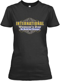 International Women's Day March 2017 Tee Black Women's T-Shirt Front