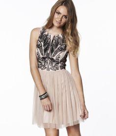 Lipsy Cornelli Mesh Skirt Dress