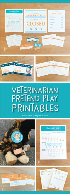 Let your toddler or preschooler develop their creativity with these pretend play vet clinic printables that kids are sure to love! They're perfect for dramatic play centers or rainy days inside.