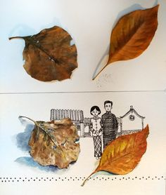 Welcome to our Autumn leaves artwork challenge - and what a popular subject this one was! We have received so many amazing paintings of leaves, they are London Art College, Crumpled Paper, Leaf Drawing, Amazing Paintings, Cool Themes, Yellow Leaves, Coloured Pencils, Color Studies, Art Challenge