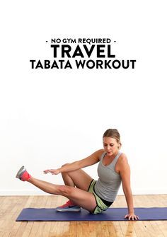 Got 24 minutes? All you need is your bodyweight to do this killer travel tabata workout! You can do this on the road, in your hotel room, or on the beach!