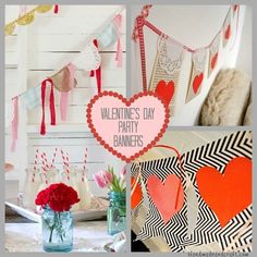 Valentine's Day idea - 7 Valentinea??s Day Party Banners {Holiday DIY}