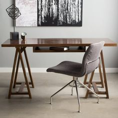 Found+it+at+AllModern+-+Sawhorse+Writing+Desk+with+Integrated+Keyboard+Tray