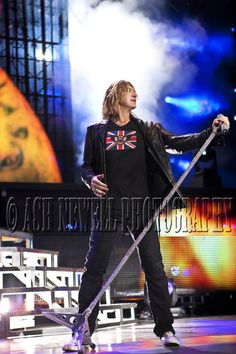 Joe Elliott ~ Def Leppard in my ICJUK 'Union Jack with Skulls & Wings.'