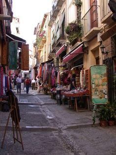 shopping in Granada, Spain