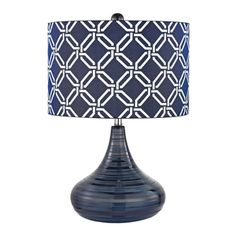 @Overstock - Dimond Peebles Navy Blue 1-light Textured Ceramic Table Lamp - Bring decadent style to your home with this incredible lighting fixture that employs a ceramic finish that will look great in almost any room.  http://www.overstock.com/Home-Garden/Dimond-Peebles-Navy-Blue-1-light-Textured-Ceramic-Table-Lamp/9834216/product.html?CID=214117 EUR              168.66