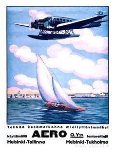Helsinki Aero Sailboat Poster Posters at AllPosters.com