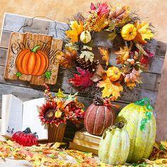 Tis the season for fall wreathes, pumpkins, leaves and more! #Harvest #FallDecor #Pumpkins #GotItAtGordmans #Gordmans