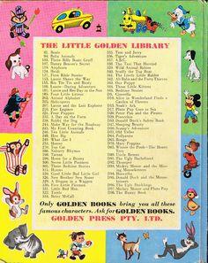 Back of vintage Little Golden Book