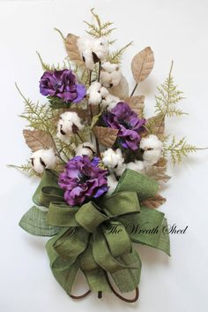 Anemone Cotton Bouquet, Natural Cotton Bolls, 2nd Anniversary Bouquet, Cotton Anniversary Gift, Cotton for 2nd Anniversary, Wedding Bouquet