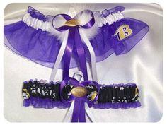 Baltimore Ravens garter - Ravens Wedding