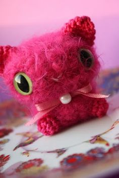 Amigurumi pearlcat - tiny one:)