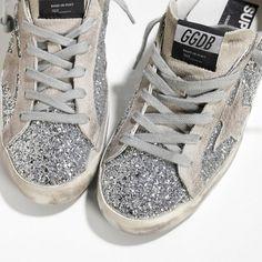 2016 Nouvelle Soldes Golden Goose Super Star Chaussures In All Over Glitter…