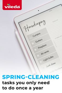 11 things you only need to clean once a year:  1. Outdoor windows 2. Light bulbs 3. Window frames and tracks 4. Curtains 5. Junk draw 6. Outdoor furniture 7. Fireplace 8. Gutters 9. Air vents 10. Washing machine and dryer 11. Under the furniture   Make sure these are on your spring cleaning list! Spring Cleaning List, Washing Machine And Dryer, Air Vent, Window Frames, Cleaning Products, Furniture Making, Bulbs, Windows, Draw